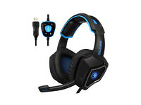 Sades PC Gaming Headset USB 7.1 Surround Sound Headset Over-ear Headphones with Microphone for PC