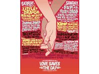 4 x Love Saves The Day (LSTD) tickets - Saturday 27th May