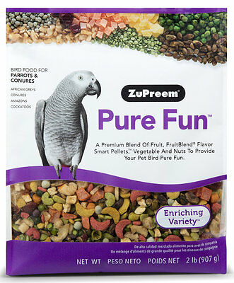 ZuPreem Pure Fun Premium Blend Bird Food, Parrots & Conures, 2 lbs