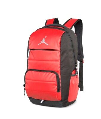Nike Jordan Jumpman 9A1640-681 Bookbag Basketball Boys Backpack Gym Red/Black