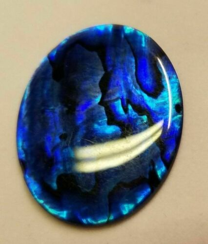 30x40mm 40x30mm Natural Paua Shell Blue Calibrated Oval Cabochon Gems Jewelry