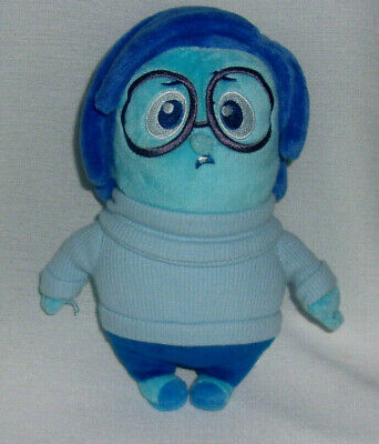 Disney Pixar Inside Out SADNESS Plush Toy Blue Girl Glasses 8 Inches Toy Doll
