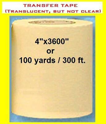 4 Application Transfer Paper Tape 300 Ft. Roll For Vinyl Plotter Cutter Fresh