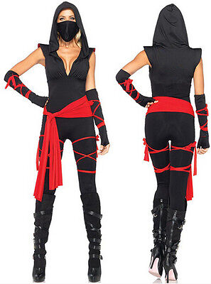 Adult Women Masked Deadly Ninja Costume Halloween Cosplay Outfit