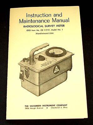 Cd V-717 Model Number 1 Radiological Survey Meter Manual 1964