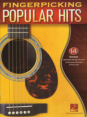 Fingerpicking Guitar .. Popular Hits 14 aktuelle Pop-Songs für Gitarre Noten Tab