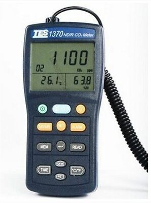 Co2-analyzer (Brand New TES1370 Ndir CO2 Analyzer Temperature Humidity Meter Tester rs)