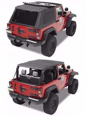(Bestop Trektop NX Combo Sunrider Soft Top & Hardware 07-18 2dr Jeep Wrangler JK)