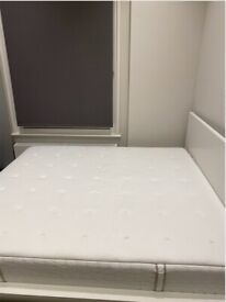 MUST GO! Super King Mattress (180x200), Hokkasen (Medium Firm) + Malm bed frame w/ storage. 50GBP!
