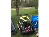 Bellelli Bike Taxi Child Bike Trailer in lime green and black