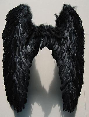 Halloween Party Cosplay  New Black Feather Angel Wings Props