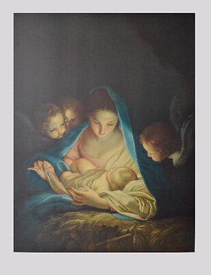 Carlo Maratta Kunstdruck Poster Bild seltener Lichtdruck Die heilige Nacht 93x69