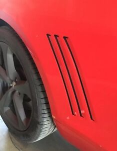 Chevy Camaro Side Vent Gills Stripes Inlay Vinyl Decal 2010-2015