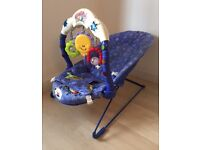 Fisher Price musical bouncy chair, keeps your baby amused and safe. Pick up only.