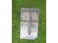 1930's Reclaimed Welsh Slate Roof Tile 46.5 CM's X 26.5 CM's Shingle Rare Stone