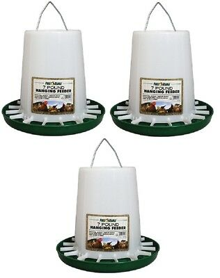 3 Harris Farms 7 Lb 4226 Capacity Hanging Plastic Poultry Chicken Feeders