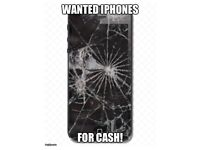 WANTED UNLOCKED iPhone 4/5s/5c/5se/6/7 with damaged screen.