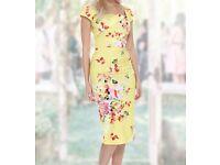 Size 14 yellow dress The Pretty Dress Company