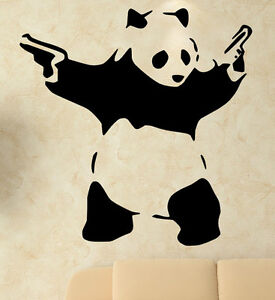 Banksy wall decal