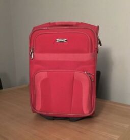 Red cabin bag luggage suitcase carry on