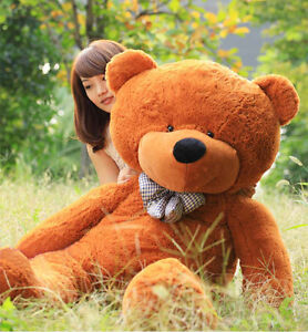 Stuffed-Giant-95cm-Deep-Brown-Plush-Teddy-Bear-Huge-Soft-Cotton-Doll-Toy-Gift