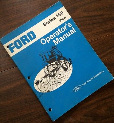 Ford Series 150 Plow Operators Owners Manual