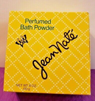 Vintage NIB Jean Nate Perfumed Bath Powder & Puff 6 Oz Nt Wt Full Sealed