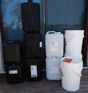 Heavy duty 20L plastic buckets and 20 L drums Carrara Gold Coast City Preview