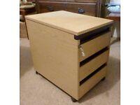 SOLD: Mobile pedestal desk drawers