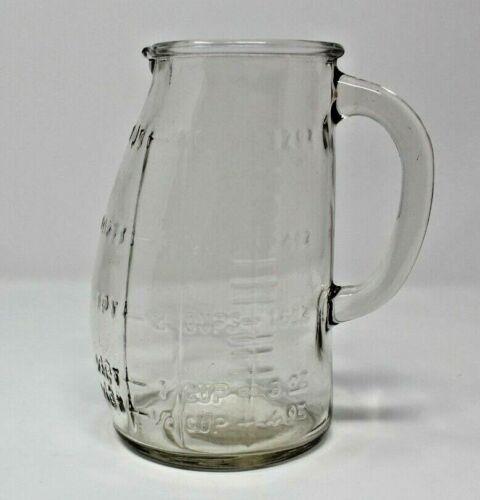 VINTAGE GLASCO USA POT BELLY MEASURING CUP 1 QUART 4 CUP PITCHER