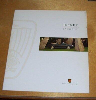 ROVER CABRIOLET 1.4 SE 1.6 1.6 AUTO SALES BROCHURE 1995 Pub no. 4924