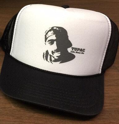 Tupac Trucker Hat eazy-e dr. dre compton ice cube n.w.a. b.i.g kbd lil wayne rap ()