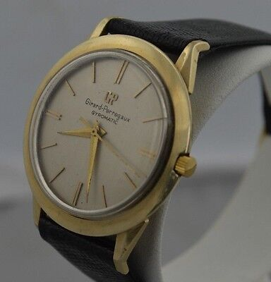 W369   GIRARD-PERREGAUX  GYROMATIC 14K GOLD FILLED VINTAGE  WRISTWATCH