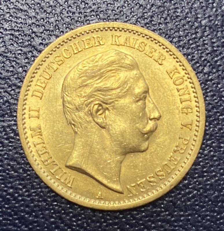 1909 Germany Prussia Ten 10 Marks Gold Kaiser Wilhelm II