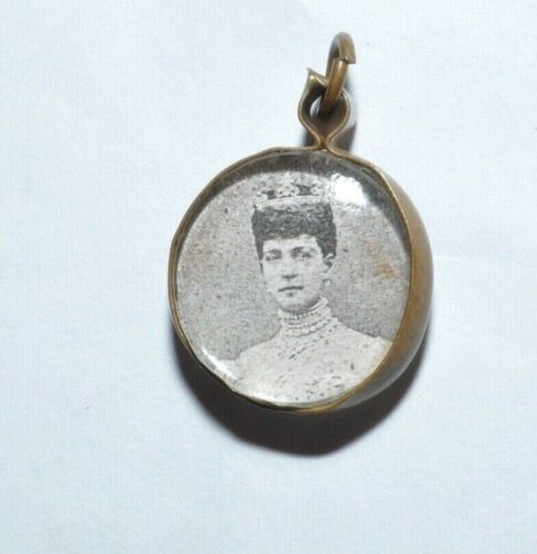 SWEET VINTAGE VICTORIAN TWO SIDED PHOTO LOCKET