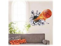 3D Football soccer ball wall stickers, BRAND NEW