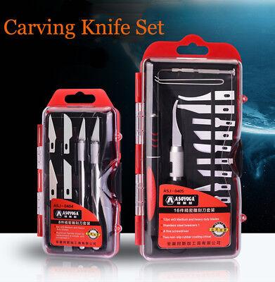 8/16pcs Blades Set Hand Wood Carving Chisels Knife For Basic Woodcut DIY Tools Basic Wood Carving Set