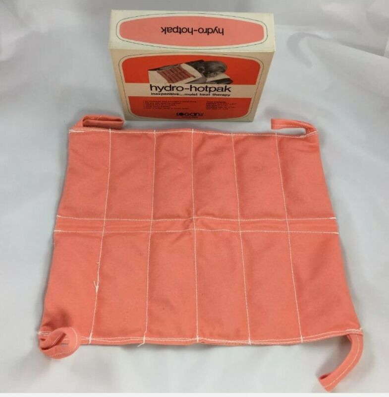 """Vintage Logan Inc Hydro-Hotpak 10"""" x 12"""" Moist Heat Therapy For Backaches"""