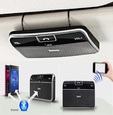 NEW  Wireless Bluetooth Handsfree Speaker Phone MP3 Car Kit Sun Visor Clip Drive