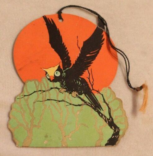 1930s era Halloween Black Bird Pumpkin Bunko Tally Card