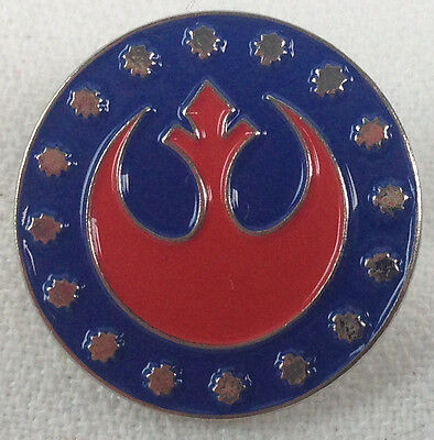 Rebel Seal - Star Wars Movie Series - UK Imported Enamel Pin - Red with Blue