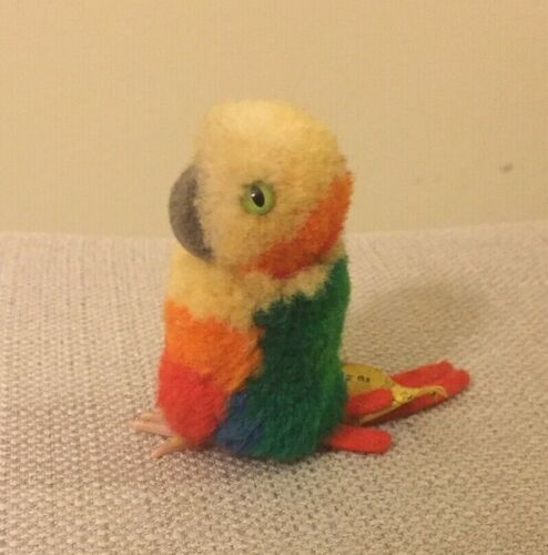 Steiff bird parrot wool miniature stuffed animal made in Germany 2803