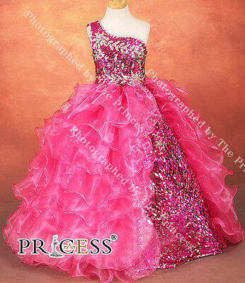 Princess Girls Pageant Ball Gown Dress Flower Girl Full length Party Tiffany