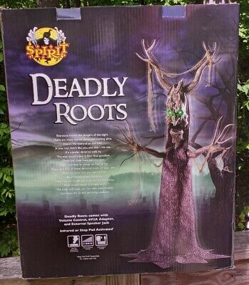 Rare 2017 Spirit Halloween DEADLY ROOTS Life Size animatronic Prop NEW IN BOX!