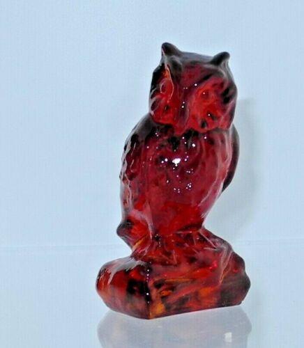 Boyd Glass Owl Ruby #91 1987