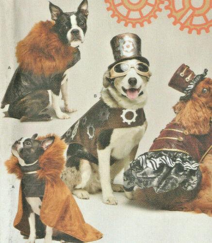 Simplicity 1031 Cape Hat Coat Steampunk Dog Costumes Pattern Sizes S-M-L