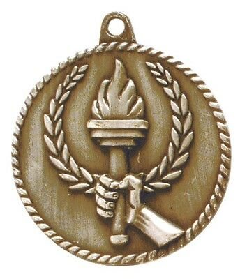 Victory Torch Medal Award Trophy With Free Lanyard HR800 School Team Sports