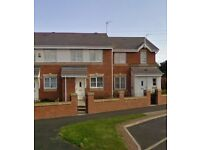 2 Bedroom HOUSE available to Rent in Cramlington, front & rear gardens and private driveway.