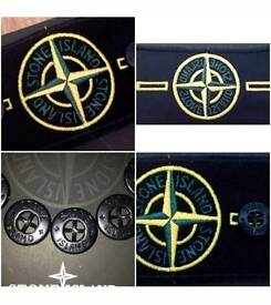 100% SUPERB STONE ISLAND ORIGINAL JACKET JUMPER COMPASS REPLACEMENT BADGE & BUTTONS