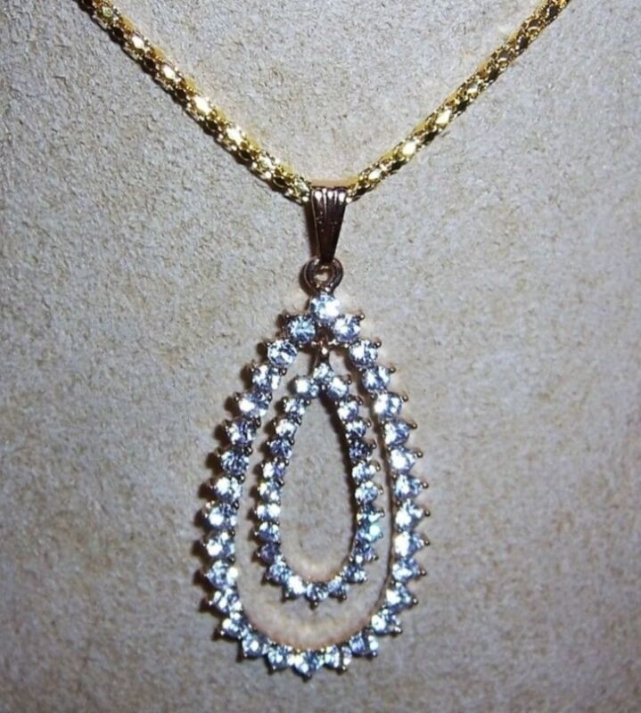 Resale 24 Pcs. Double Teardrop Crystal Pendant Without Chain . Free Ship USA .